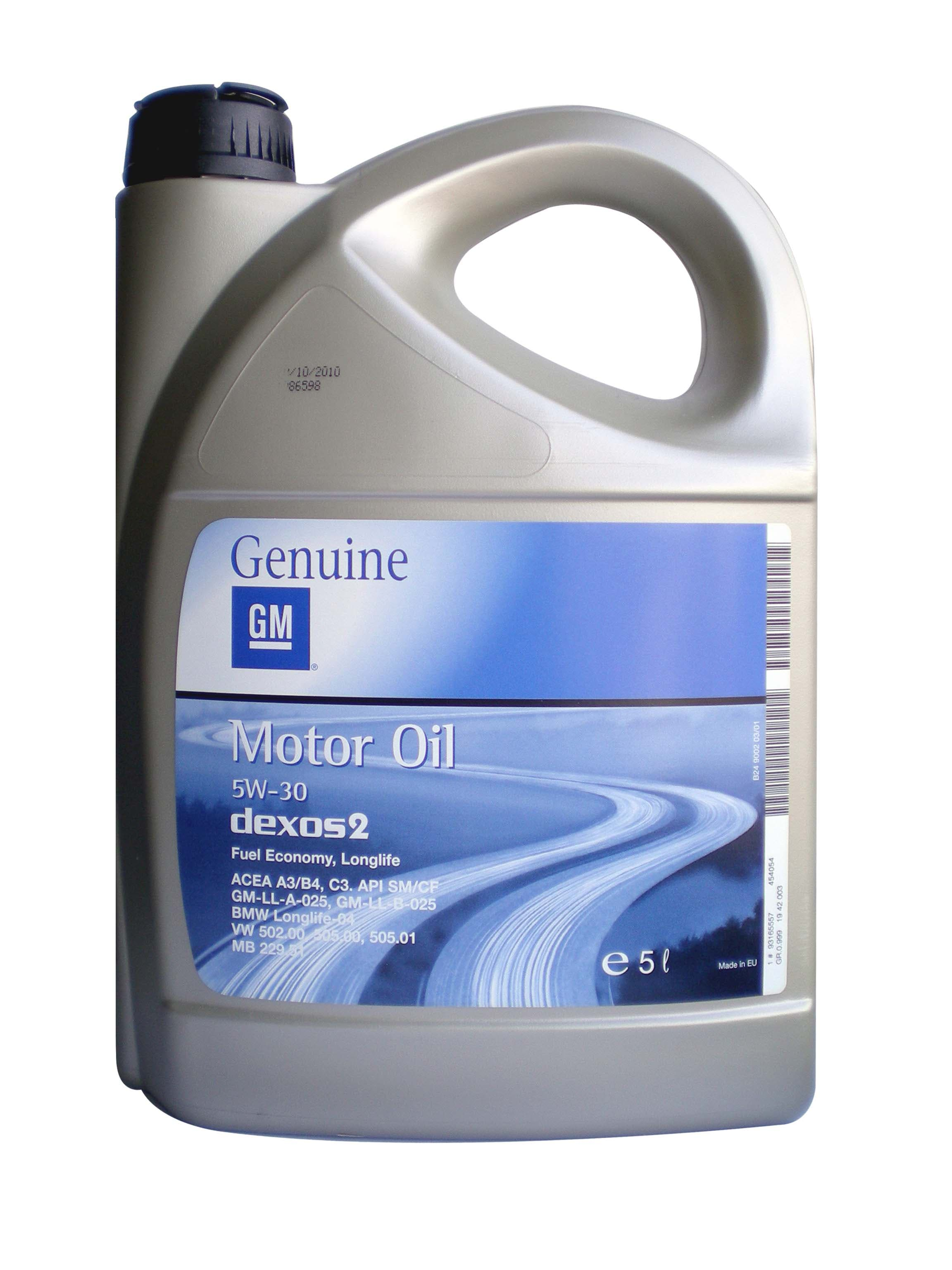 General Motors Motor Oil Dexos 2, 5L